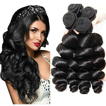 Loose Wave Bundles Brazilian Human Hair 4 Bundles Wholesale Virgin Hair  Dark Brown Human Hair Weave f33233f0d6ee