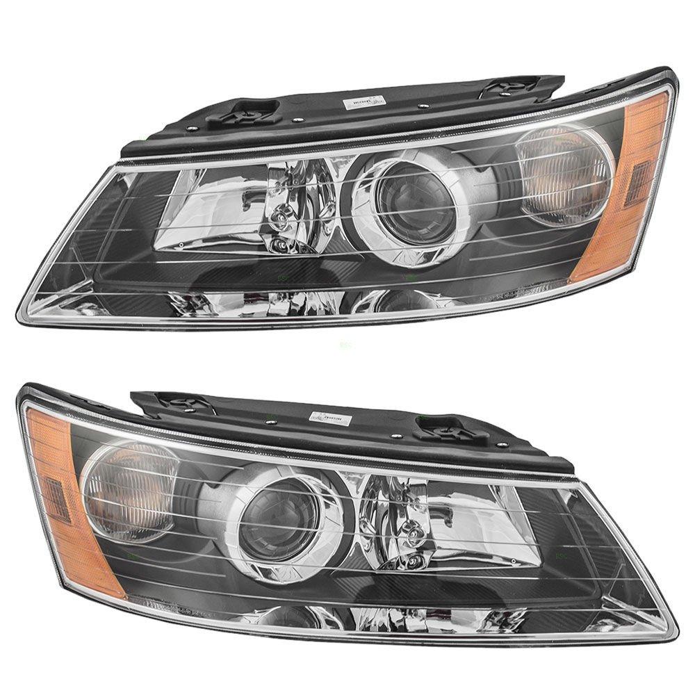 Amazon.com: Fits Hyundai Sonata 06-08 Head Light Lamp With Bulb Rh ...