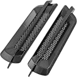 uxcell 2 Pcs Carbon Fiber Pattern Plated Auto Car Hood Air Flow Vent Sticker Cover