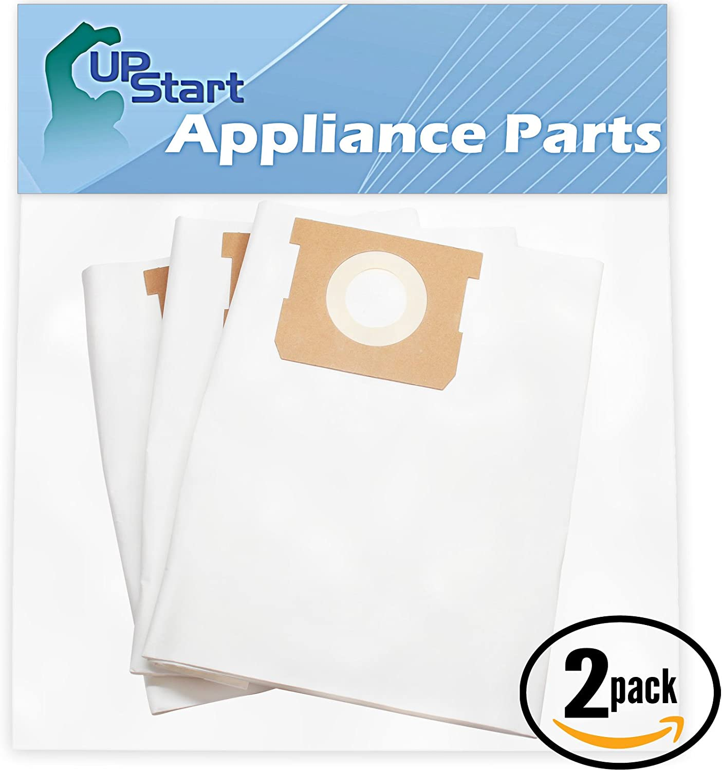 Upstart Battery 6 Replacement for Shop-VAC 90661 Vacuum Bags - Compatible with Shop-VAC 90661 Vacuum Bags (2-Pack, 3 Bags per Pack)