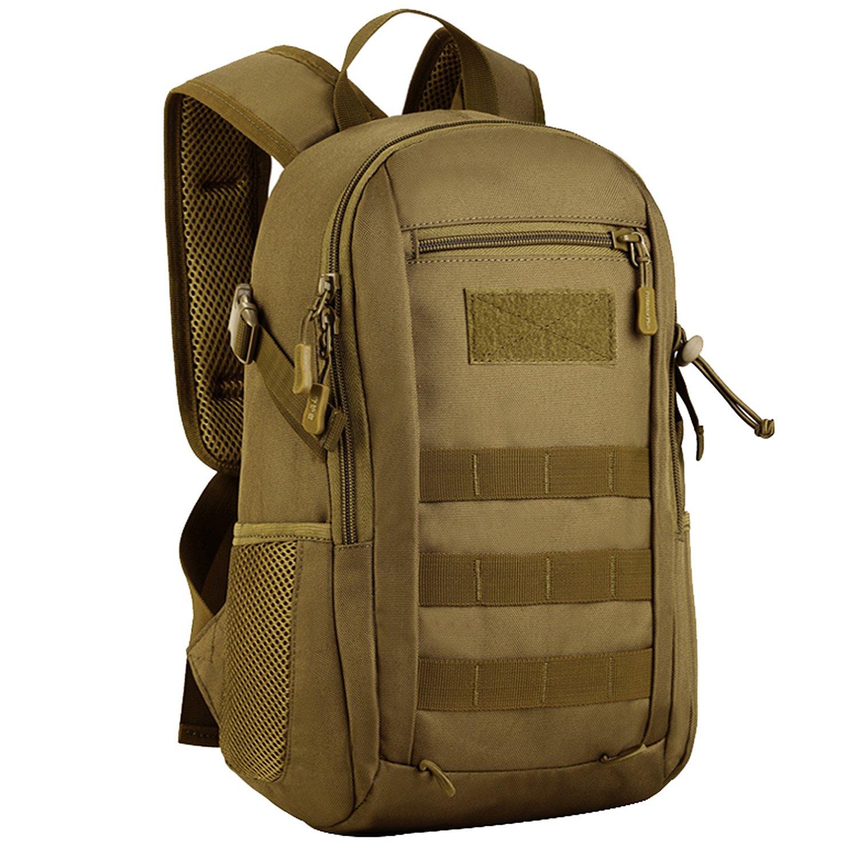 Matoger Military Mini 12L MOLLE Backpack Rucksack Gear Tactical Backpack Nylon Student School Bag