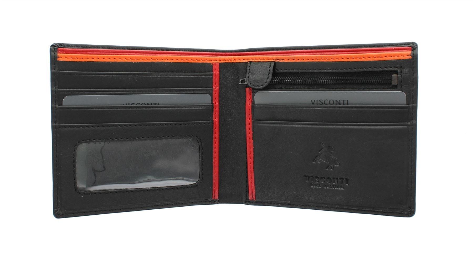dfa94ba6f54 Visconti Colección Bond LE CHIFFRE Cartera de Cuero para Hombre BD707  Negro Naranja product image