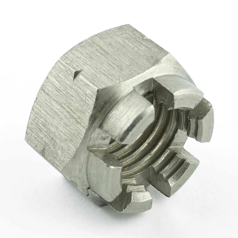 rostfrei Eisenwaren2000 M12 Kronenmuttern - Sicherungsmutter DIN 935 ISO 7035 Edelstahl A2 V2A 1 St/ück