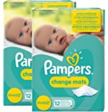 24 Pampers Change mats Baby Mats (12x2).