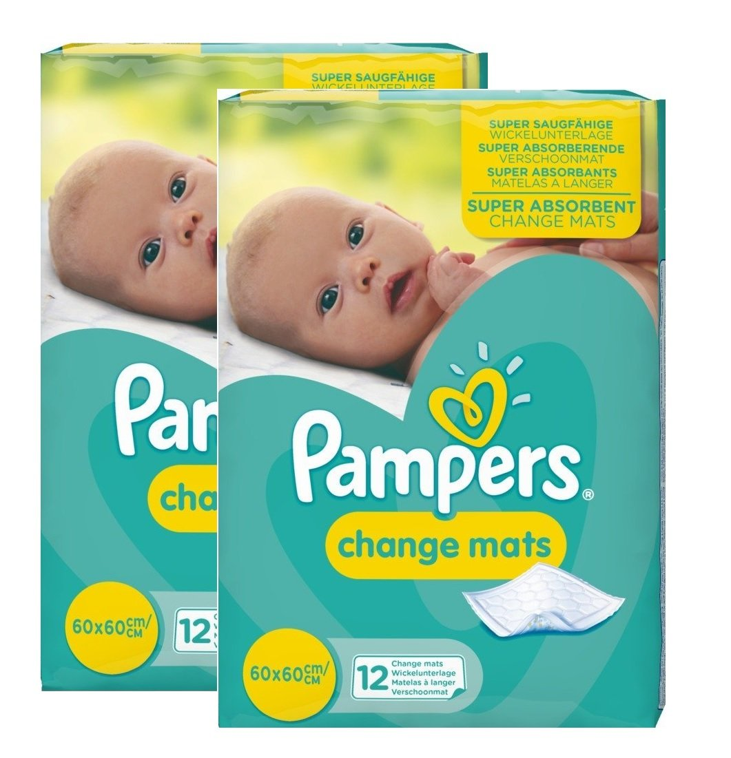 24 Pampers Change mats Baby Mats (12x2). Procter & Gamble UK 81502253