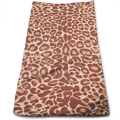 WBinHua Toallas, Miami Cocoa Leopard Brown Animal Print Multi-Purpose Microfiber Towel Ultra Compact