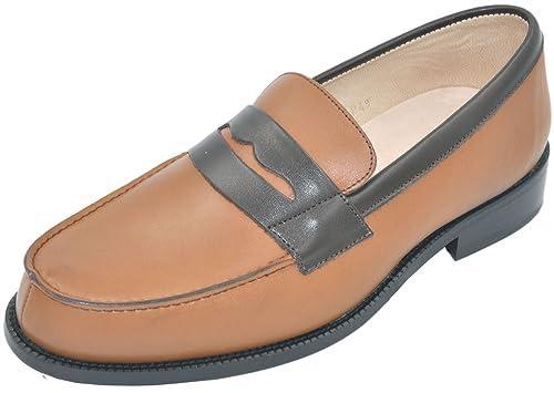 Uomo - Mocasines de Piel Lisa Hombre, marrón (marron camel 617), 39: Amazon.es: Zapatos y complementos