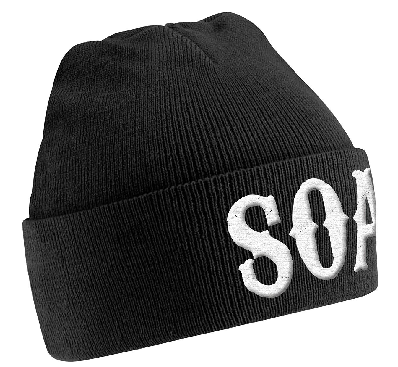 Sons Of Anarchy Beanie Hat Cap Beanie SOA Logo Official New Black