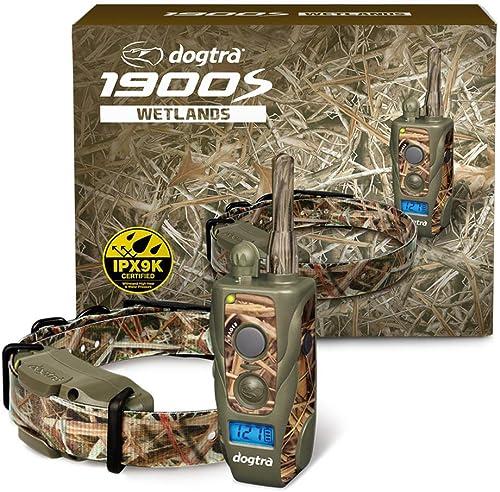 Dogtra 1900S Wetlands 3 4-Mile IPX9K Waterproof High-Output Camouflage Ergonomic Remote Dog Training E-Collar