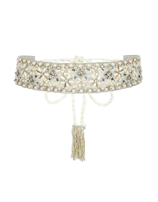 miglior servizio f51e5 1c76b Accessorize Women's Belt - off-white - M: Amazon.co.uk: Clothing