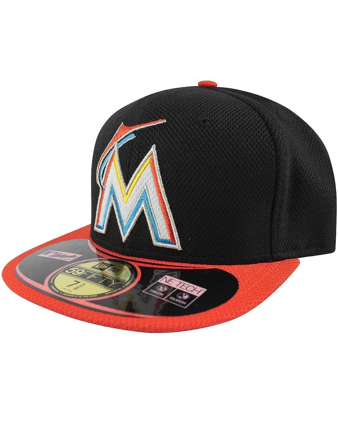 Amazon.com  New Era 59Fifty MLB Miami Marlins Cap (7)  Clothing c7b32fbd6a57