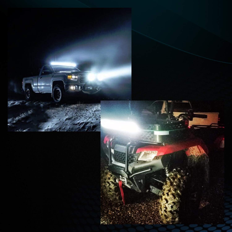 3 Years Warranty oEdRo LED Light Bar Tri-Rows 120W 12Inch LED Light Pod Spot Flood Combo Light Off Road Lights Led Fog Light Driving Lights Boat Lighting Fit for Truck Pickup Jeep SUV ATV UTV