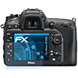 atFoliX Lámina Protectora de Pantalla Nikon D7200 Película Protectora - Set de 3 - FX-Clear ultra transparente