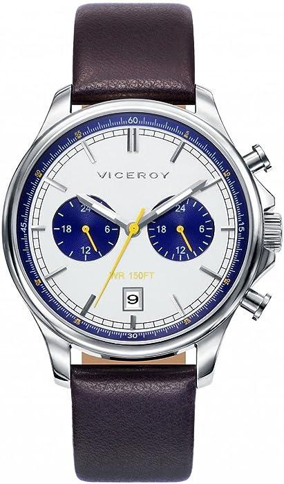 Viceroy Reloj Multiesfera para Hombre de Cuarzo con Correa en Cuero 471025-17