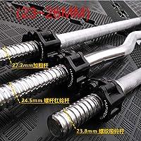 "Shandian 1 Par 1"" 2"" Pesas Collar Clip Aptitud Pesas Barra Abrazadera Musculation Powerlifting Trabajar el Equipo de Gimnasia (Color : Black 23mm to 26mm)"