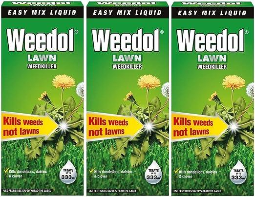 Weedol Herbicida líquido para césped o jardín (mata las malas hierbas) 500 ml (1.5 litros) Pack de 3: Amazon.es: Jardín