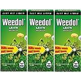 3 x Weedol / Verdone Extra Lawn Weedkiller Kills Weeds 500ml Treats 333m2 Garden New (Total 1.5L 1.5 Litre)