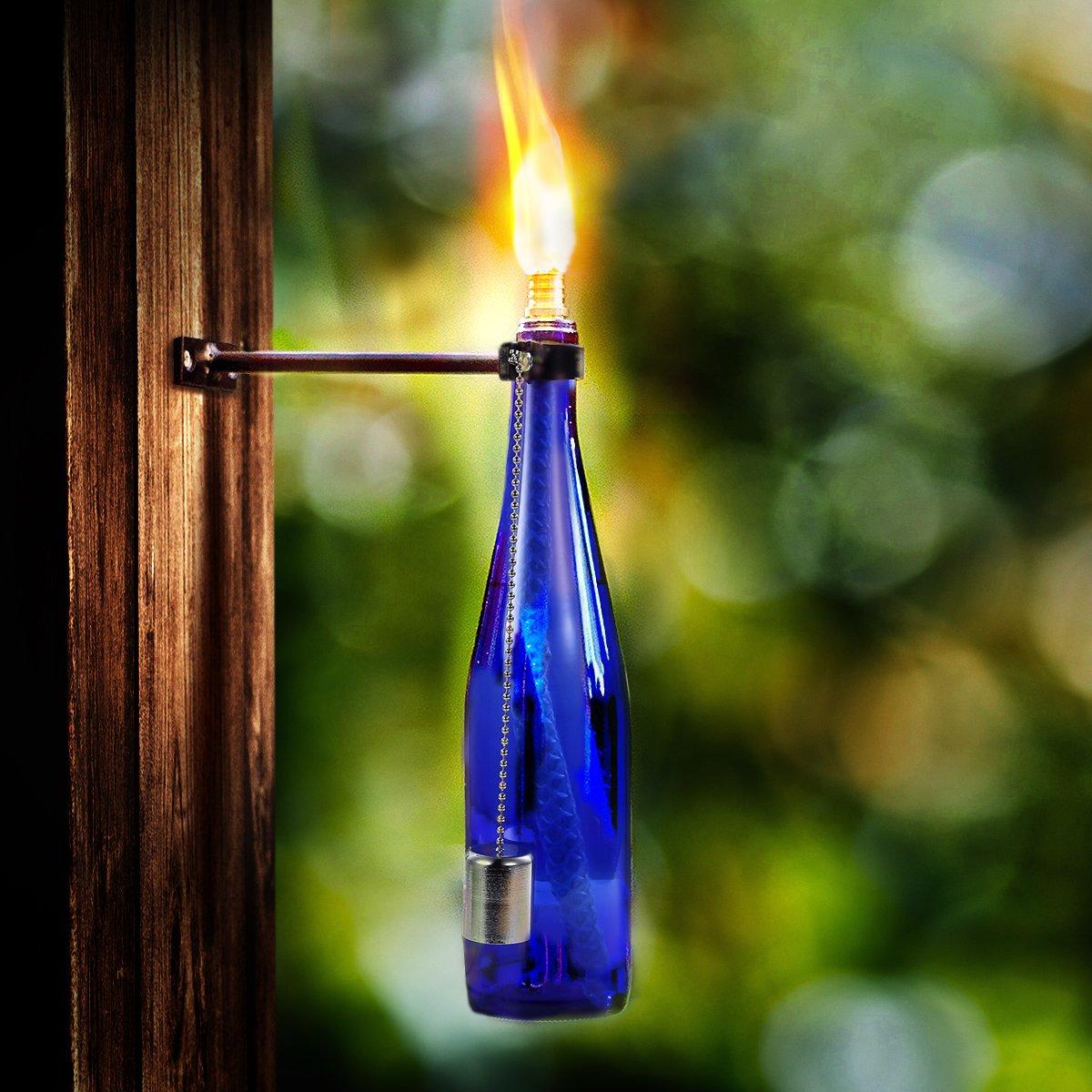 Lanmu Wine Bottle Wick Torch Kit Citronella Torch Oil Lamps
