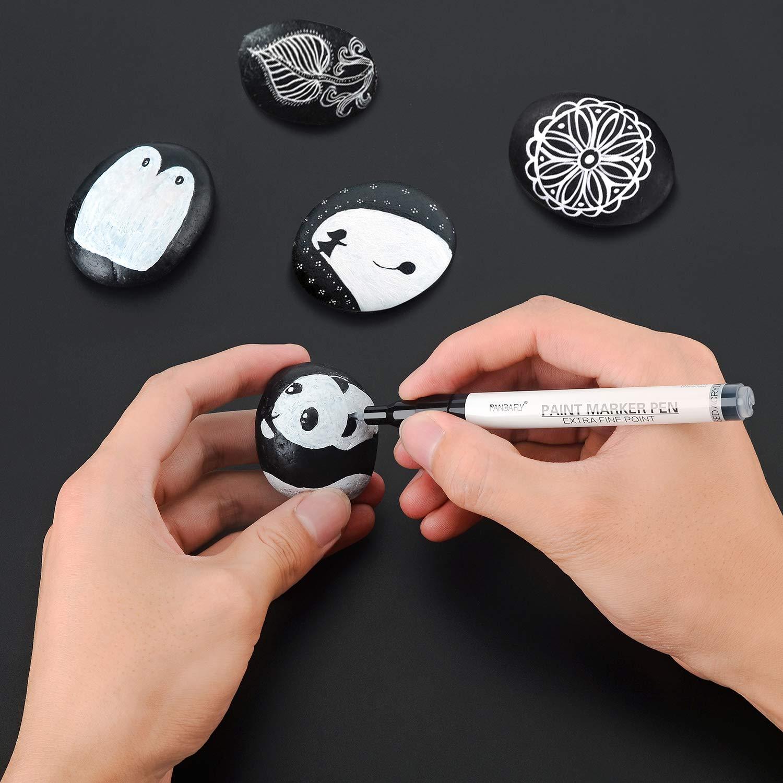 Amazon.com: Rotuladores de pintura blanca, 8 unidades, 0.028 ...