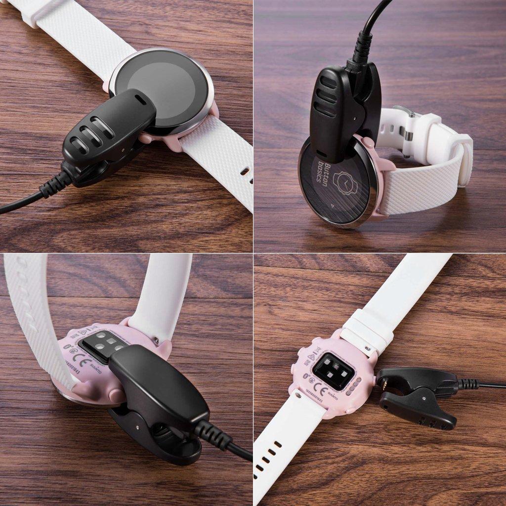 Brilcon 100cm Cable De Cargador De Clip USB para Suunto 3 Spartan Trainer Ambit Ambit 2 3 Traverse
