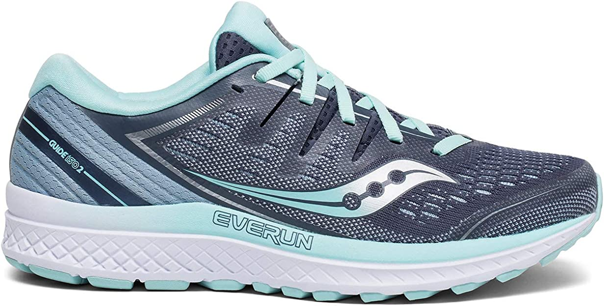 SSA Saucony Womens Guide Iso 2 Cushioned Comfortable Wide Fit Athletic Shoes