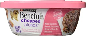 Purina Beneful Chopped Blends Wet Dog Food, With Salmon, Sweet Potatoes, Brown Rice and Spinach, 10 Oz Tub (8 Pack)