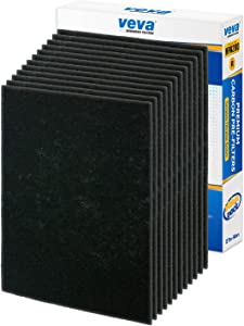 VEVA Precut for HPA200 Premium Carbon Activated Pre Filters 12 Pack Compatible with HW Air Purifier Models 200, 202, 204, 250B. Precision Fit for Easy Installation Advanced Filters
