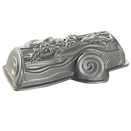 Nordic Ware 86448 Diseño de moldes Tronco de Navidad Pastel de Aluminio Fundido