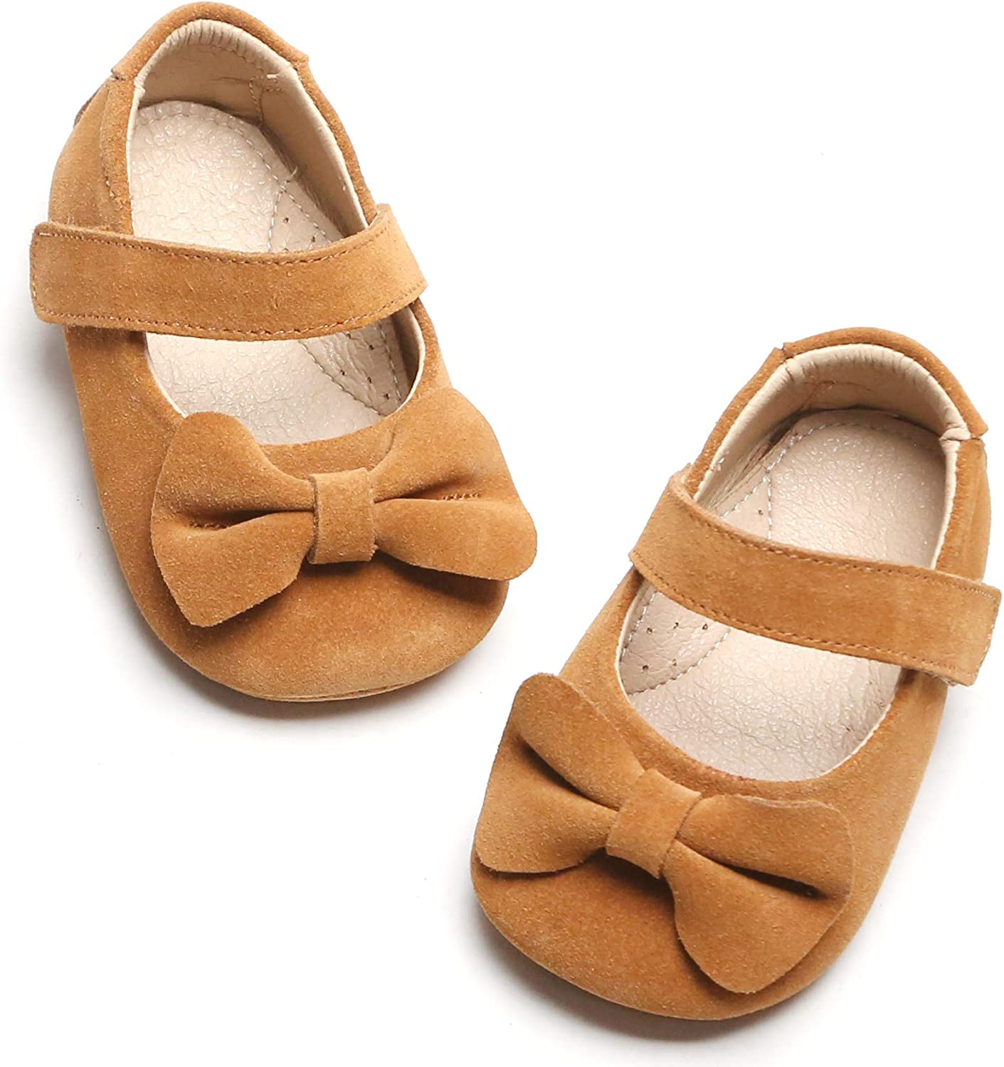 Infant//Toddler BEIMOO Baby Girls Soft Sole Prewalker Mary Jane Flats with Bowknot Toddler First Walkers Princess Dress Shoes