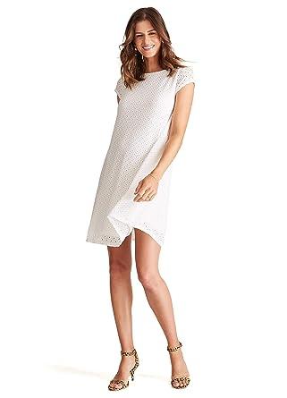 85cbe66c9b80b Ingrid & Isabel Women's Maternity Lace Swing Dress (Large, Bright White) at  Amazon Women's Clothing store: