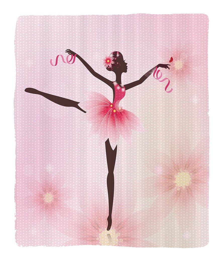 Nalahome 1 Fleece Blanket on Amazon Super Silky Soft All Season Super Plush Ballerina Ballet Dancer Trees Polka Dots Artistic Gymnastic Balletkirt Art Lover Girl Nursery Kids Decor for Teen Girls Desig NALAMT02184K152.4xG109.22