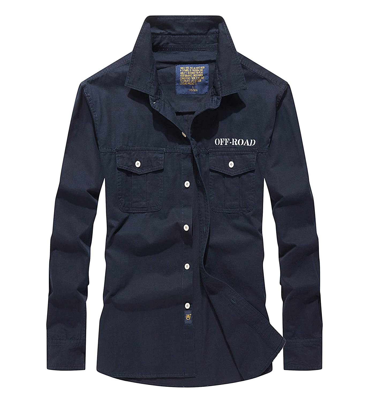 TALLA XL/ EU L. Alleza Camisa para Hombre Secado Rápido Protección UV Camisas con Mangas Largas Extraíbles Outdoor Work Camiseta