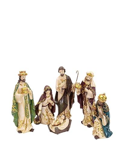 4b052ec3506 Lola Home Decoracion Navideña Set Figura 6 Uds. Nacimiento  Amazon ...