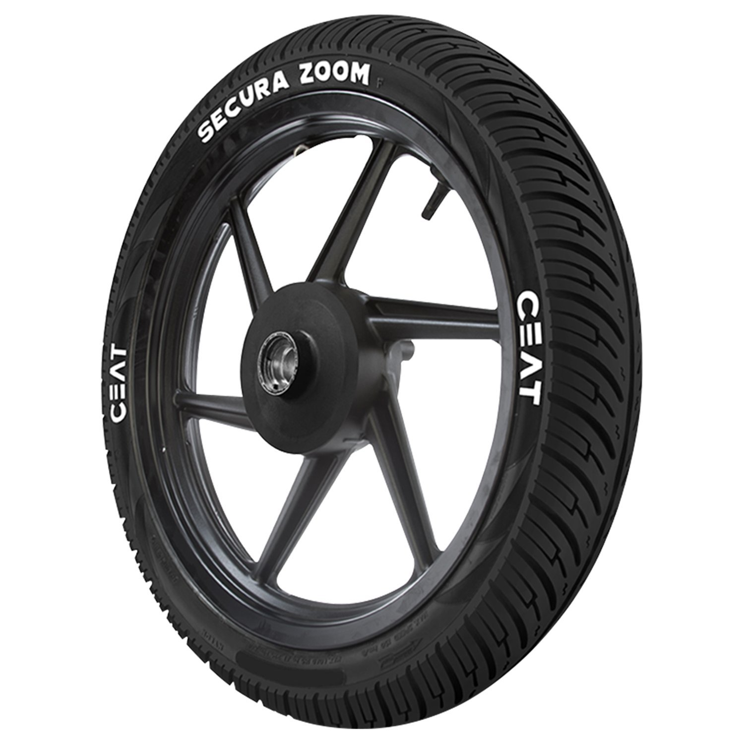Ceat Secura Zoom F 90/90-17 49P Tubeless Bike Tyre, Front (Home Delivery) product image