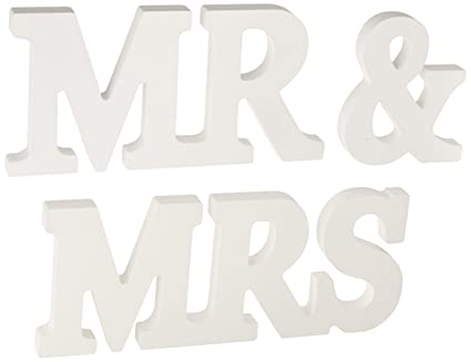 meriton mr mrs wooden letters wedding decorationpresent white