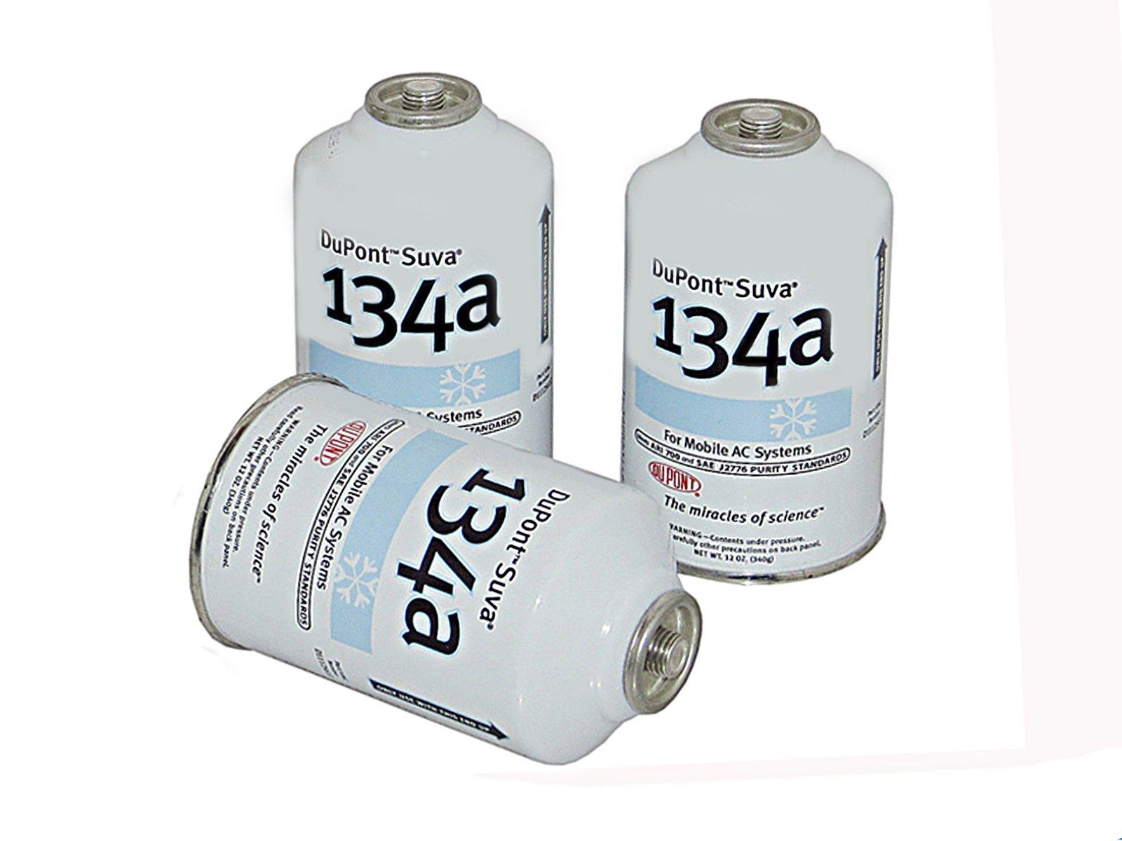 DuPont 3 Cans R-134a Suva A/C Automotive Refrigerant/Freon R134a (12oz Cans)