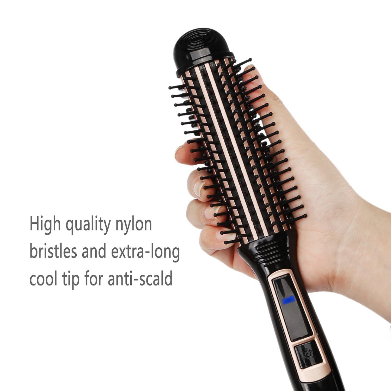 Aigostar Lany 32HGS - Cepillo moldeador rizador eléctrico. 24 watios. Diseño exclusivo.
