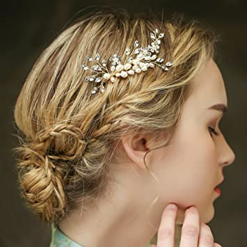 Amazon De Braut Vintage Gold Haar Kamm Haarband Crystal Strass