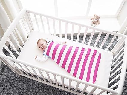 The Gro Company - Saco para bebé Grobag (bandas magenta, gramaje 1.0, 0 – 6 meses) multicolor Talla:1.0 tog, 6-18 months