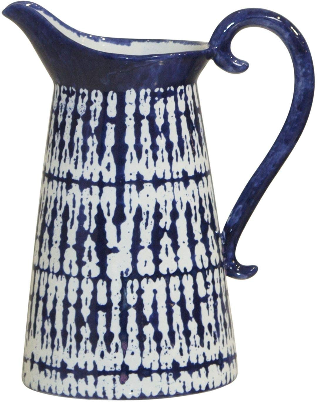 Home Essentials 11-inch High Modern Blue Hand Painted Pitcher by Home Essentials