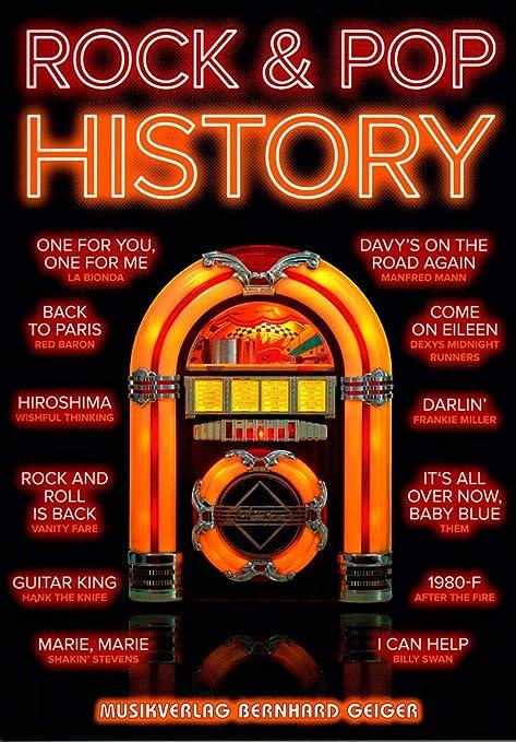 Rock & Pop History VB100 4260307721008 - Libro de canciones para ...