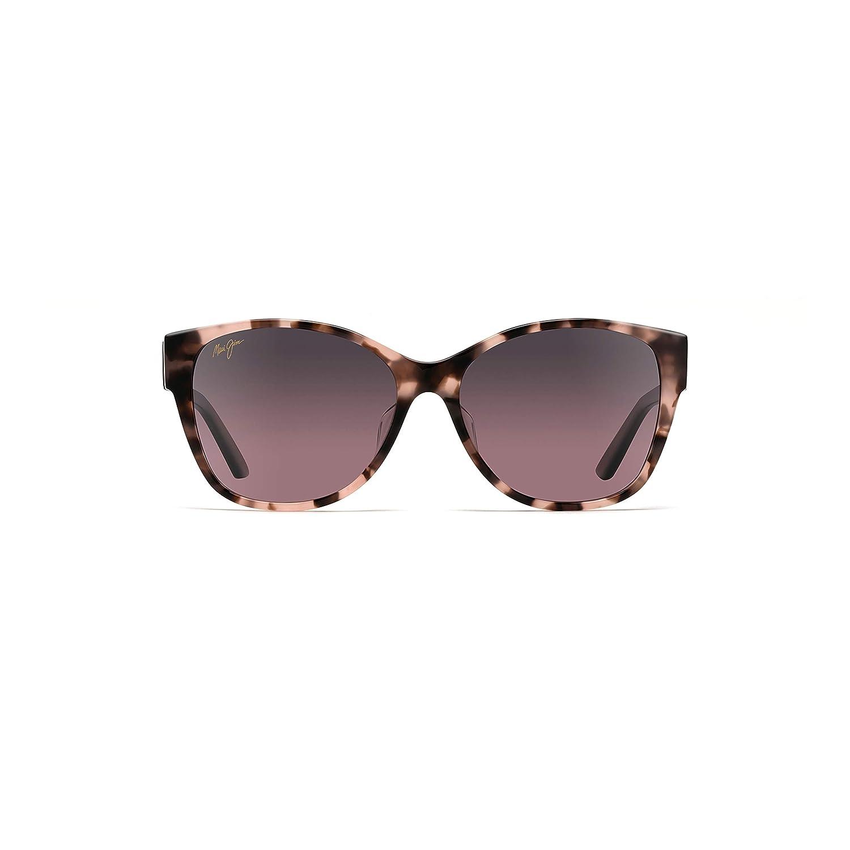 0b20f4fdf72b Amazon.com: Maui Jim Womens Summer Time Sunglasses (732) Pink/Pink Acetate  - Polarized - 54mm: Clothing