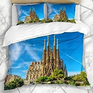 LISUMAL Ropa de cama - funda nórdica Ciudad Familia Barcelona ...