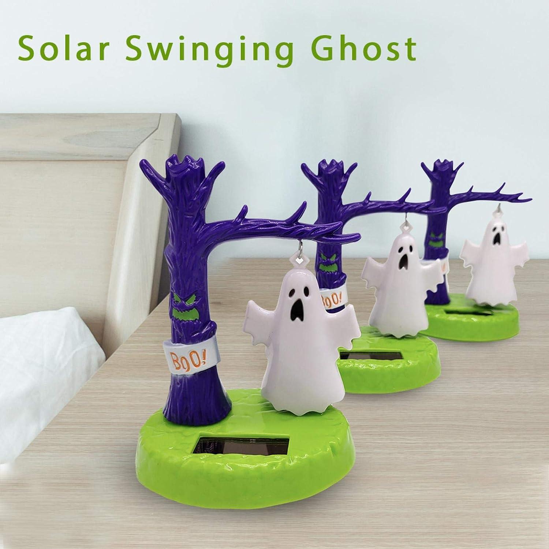 Pepional Solar Wackelfigur , Halloween-Deko-Teile Solar-Kopfsch/üttelpuppen Kinderspielzeug Bewundert Autodeko