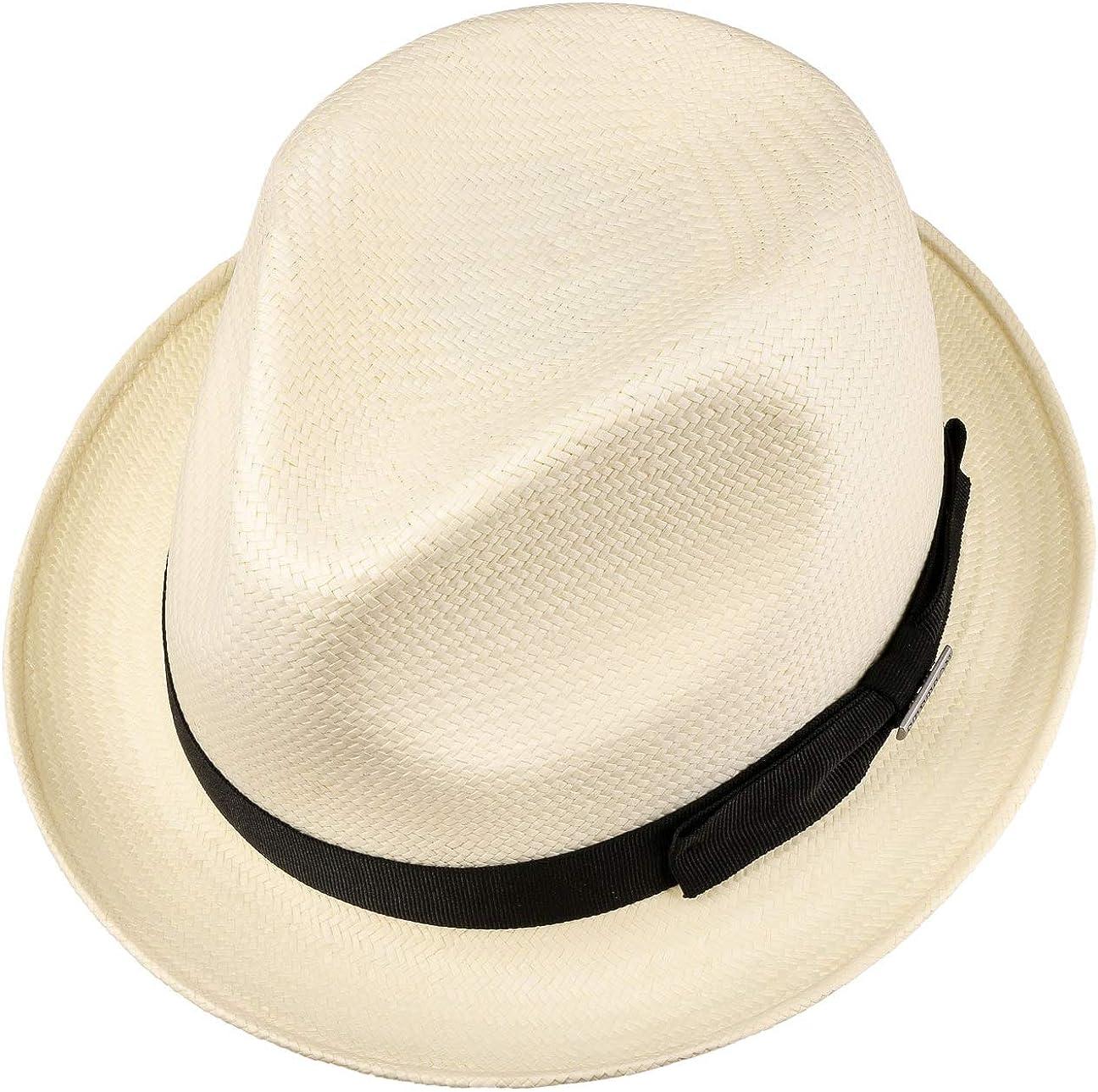 da Sole Estivo Cappelli Spiaggia con Nastro in Grosgrain Primavera//Estate Stetson Cappello di Paglia Martinez Player Uomo