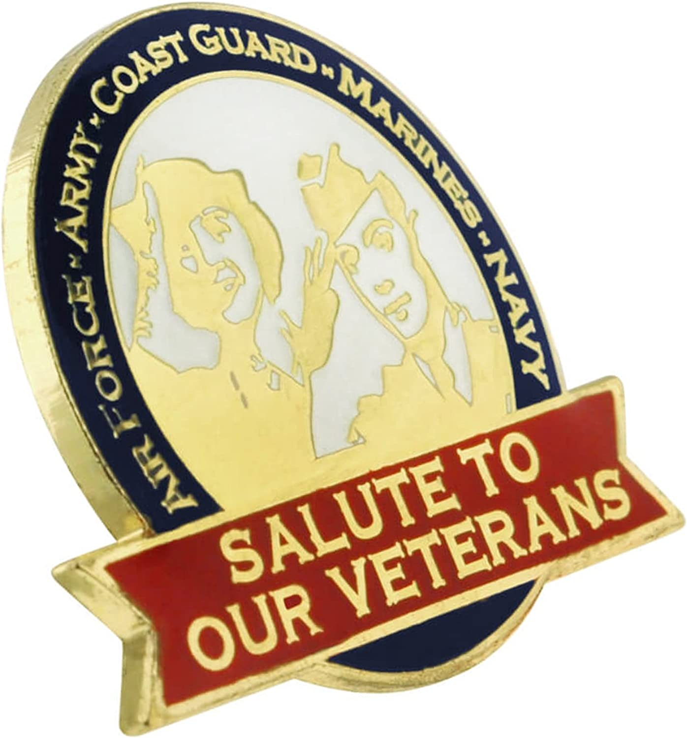 PinMart Salute to Our Veterans Military Jewelry Lapel Pin w//Magnetic Backing