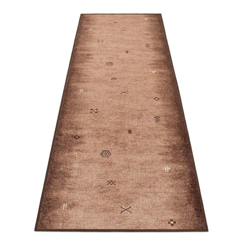 BilligerLuxus Teppichl/äufer Teppich L/äufer Br/ücke Gabbeh Velours Braun 67cm L/ängen:100 cm