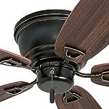 """Honeywell Ceiling Fans 50516-01 Glen Alden Ceiling Fan, 52"""", Oil Rubbed Bronze"""