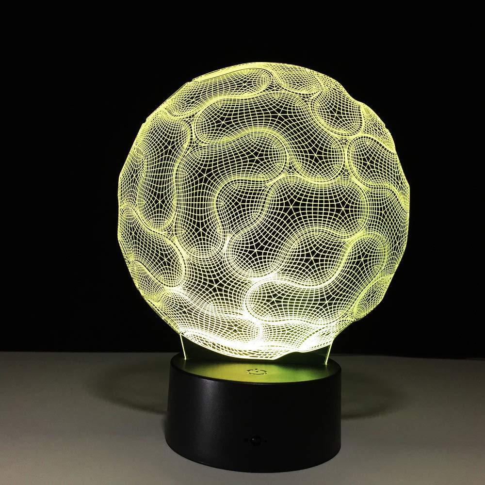 BFMBCHDJ Lámpara de mesa de cerebro 3D Dormitorio Luz de noche ...