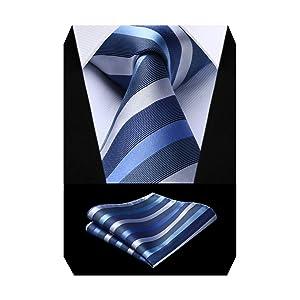 (ヒスデン) HISDERN 洗える ネクタイ セット ビジネス用 ネクタイ チーフ セット 無地 チェック柄 ストライプ 水玉模様 結婚式 二次会 披露宴 プレゼント